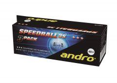 Andro Speedball Poly 3S *** 72 balls White