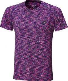 Andro T-Shirt Melange Multicolor Magenta/Darkblue